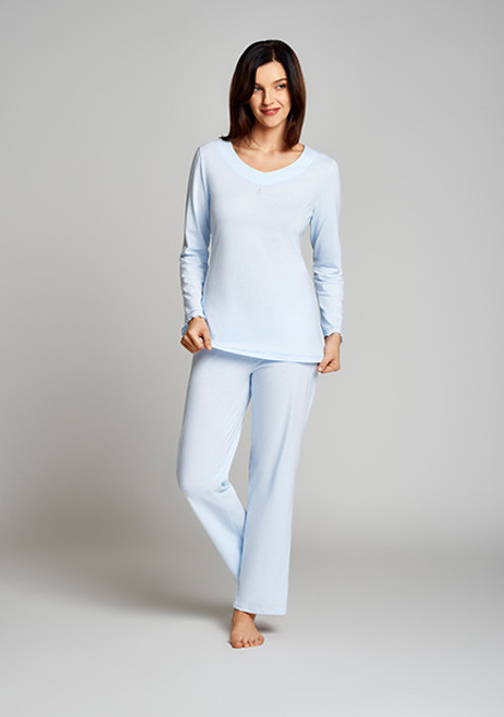 Cybele 100 Per Cent Cotton Knit 2-Piece Long Sleeve Pajama Set 7-810377