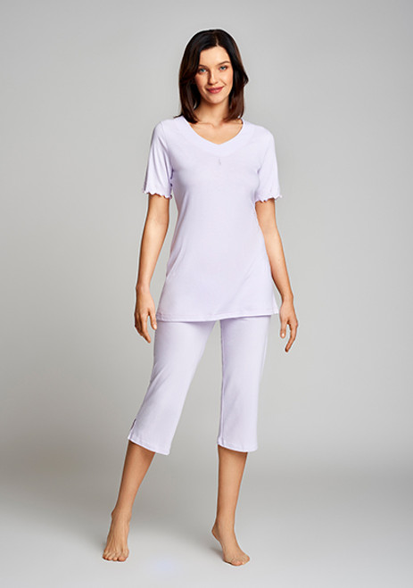 Cybele 100 Per Cent Cotton Jersey Short Sleeve Pajama Set 7-810378