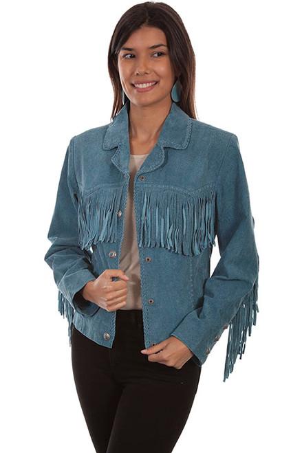 Women's Scully L1016 Suede Fringe Jacket