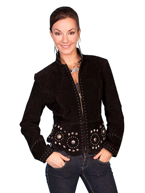 Women's Scully L191 Suede Concho Jacket