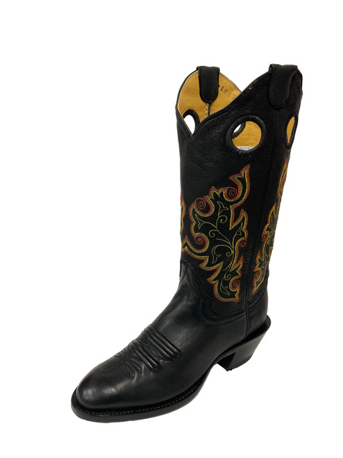 Women's Honcho Black Elk with Round Toe and Riding Heel