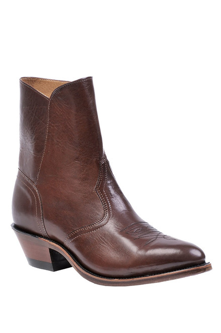 Men's Boulet 8203 Brown Western Dress Boot with Medium Cowboy Toe and Cowboy Heel