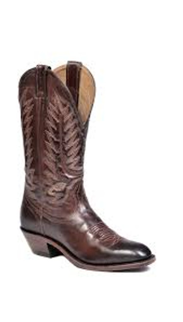 Men's Boulet 8064 Brown with Western Dress Toe and Cowboy Heel