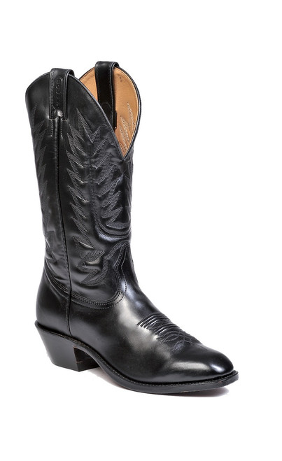 Men's Boulet 8063 Black with Western Dress Toe and Cowboy Heel