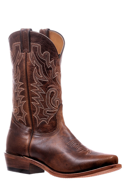 Men's Boulet 6286 Brown with Rubber Sole, Cutter Toe, and Cowboy Heel