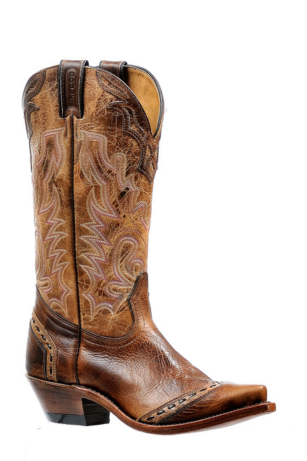 Women's Boulet 6611 Moka Brown with Snip Toe and Cowboy Heel