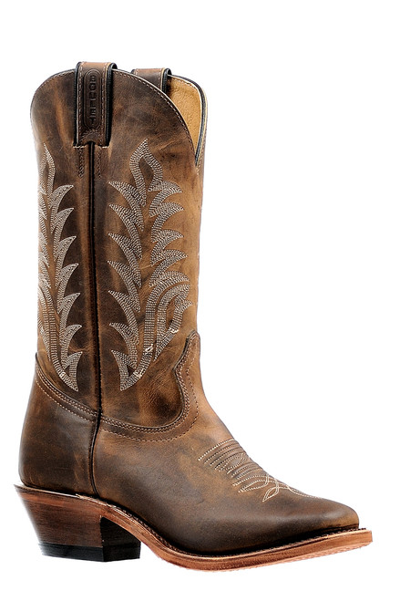 Women's Boulet 6373 Brown with Vintage Square Toe and Horseman Heel