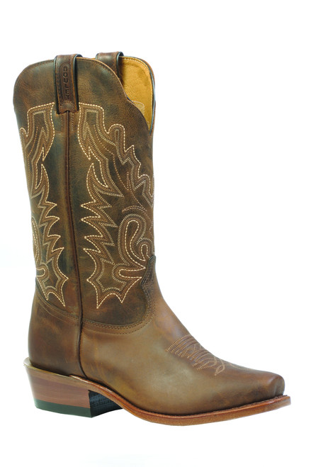 Women's Boulet 3166 Brown with Cutter Toe and Cowboy Heel