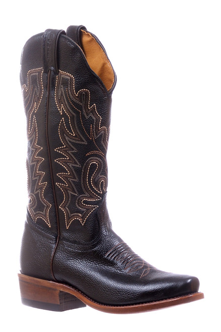 Women's Boulet 5198 Black with Cutter Toe and Cowboy Heel