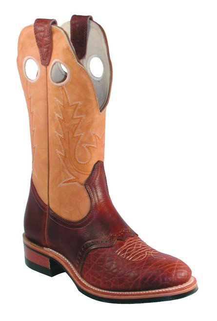 Women's Boulet 3131 Butterscotch and Brown with Round Toe and Roper Heel