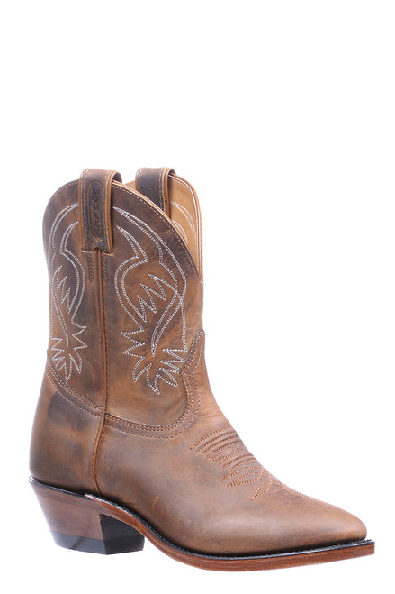 Women's Boulet 5183 Tan with Medium Cowboy Toe and Cowboy Heel
