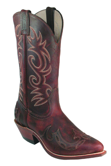 Women's Boulet 6007 Brown with Cowboy Toe and Cowboy Heel