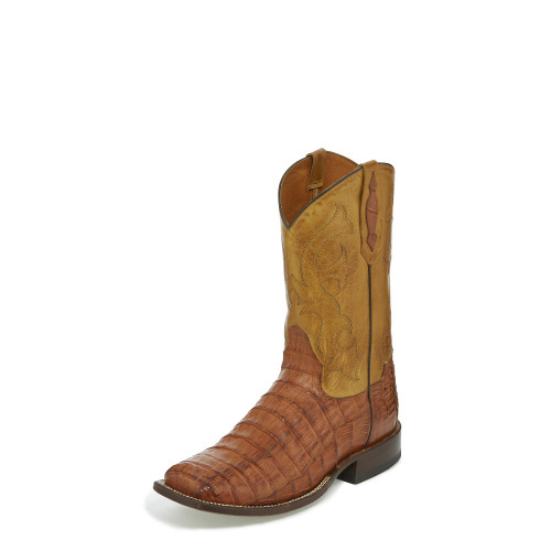 Men's Tony Lama Tl5250 Rust Caiman with Square Toe and Walking Heel