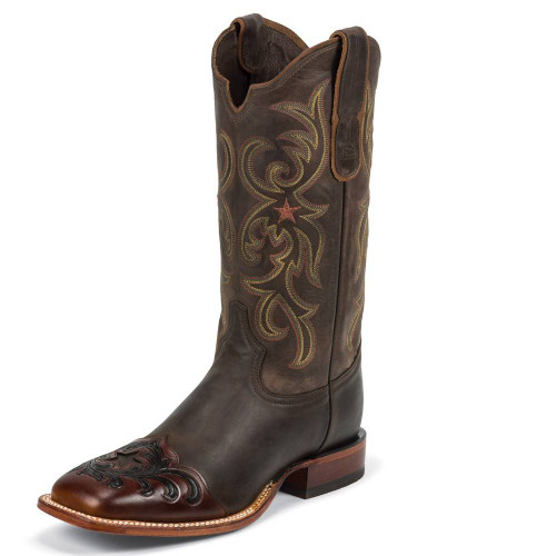 Men's Tony Lama 6067 Tobacco with Square Toe and Walking Heel
