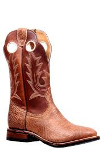 Men's Boulet 5117 Tan with Rubber Sole, Round Toe, and Roper Heel