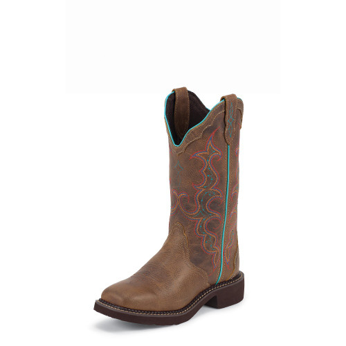 Women's Justin L2900 Brown Gypsy with Square Toe