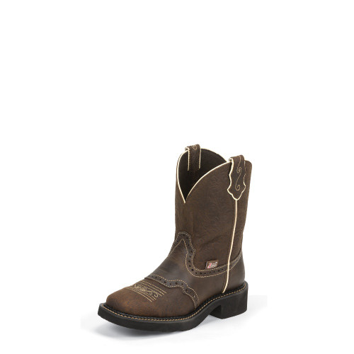 Women's Justin L9618 Brown Gypsy with Square Toe