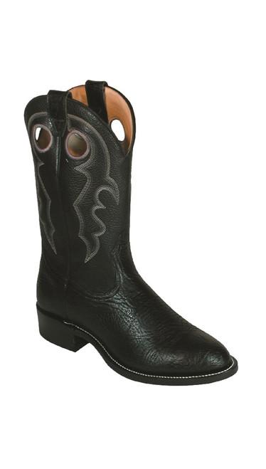 Men's Boulet 0027 Black Round Toe with Roper Heel
