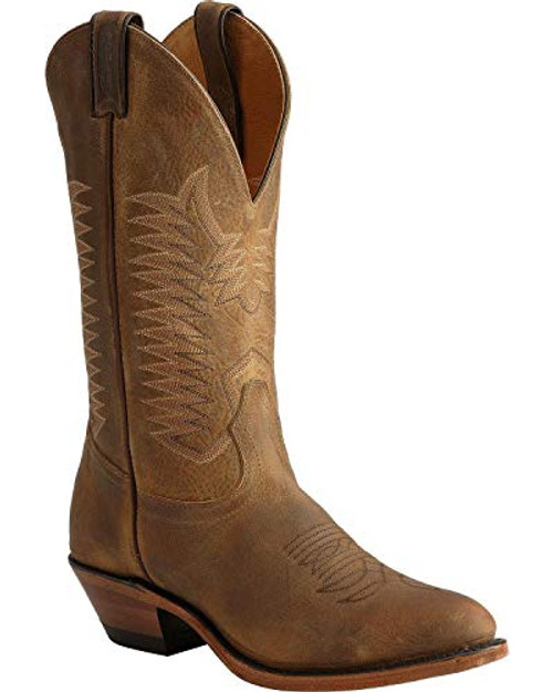 Men's Boulet 1828 Brown with Cowboy Toe and Heel