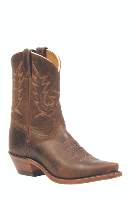 Women's Boulet 2617 Brown With Snip Toe and Cowboy Heel