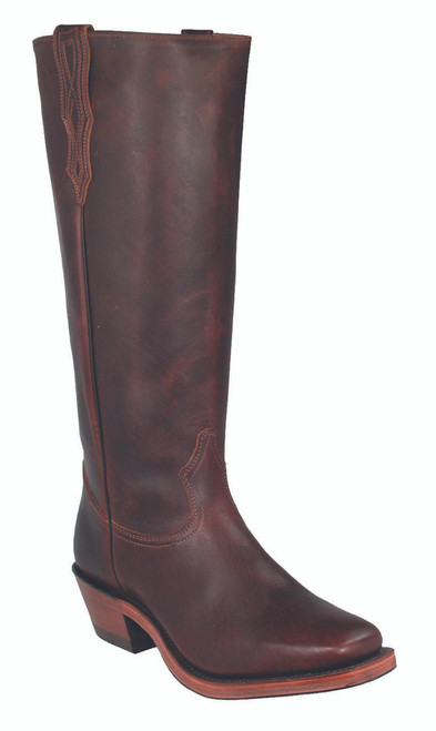 Men's Boulet 4004 Brown Buckaroo with Vintage Square Toe and Horseman Heel