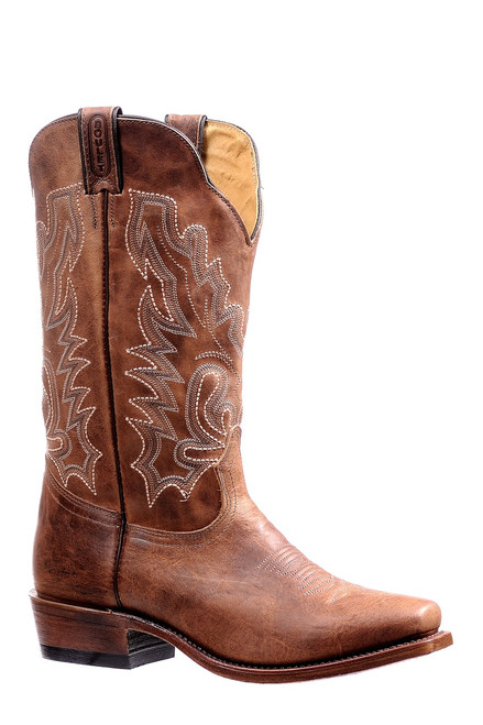 Men's Boulet 7201 Tan with Cutter Toe and Cowboy Heel