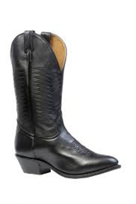 Men's Boulet 9502 Black with Medium Cowboy Toe and Cowboy Heel