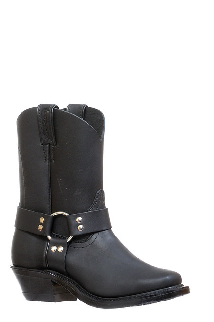 Women's Boulet 8299 Black with Rubber Sole, Vagabond Toe, and Cowboy Heel