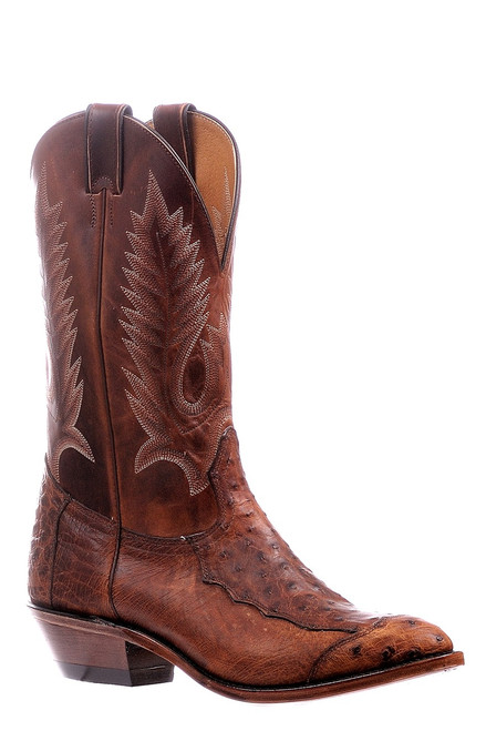 Men's Boulet 6552 Antique Smooth Ostrich with Medium Cowboy Toe and Cowboy Heel