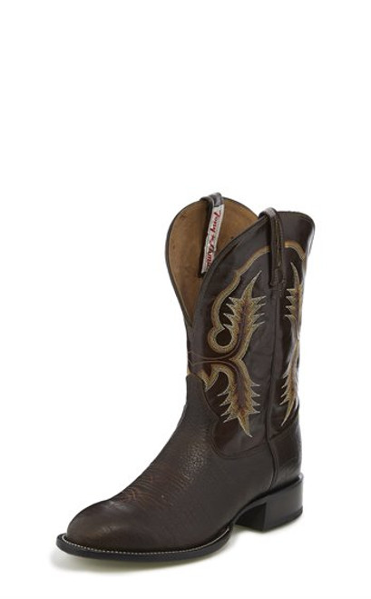 Men's Tony Lama CT2032 Chocolate with Wide Round Toe and Walking Heel