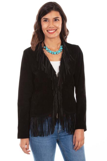 Women's Scully L1003 Boar Suede Fringe Jacket