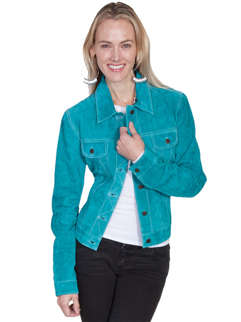 Women's Scully L107 Suede Jean Jacket