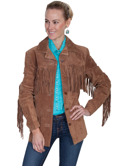 Women's Scully L74 Suede Fringe Jacket