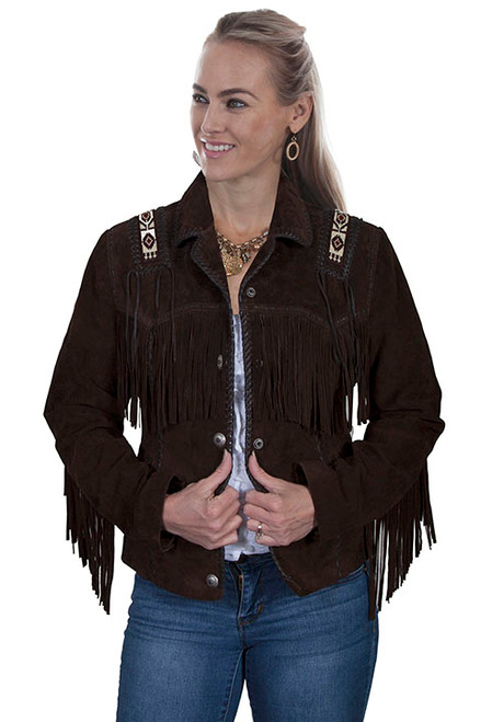 Women's Scully L758 Hand Laced & Bead Trim Jacket