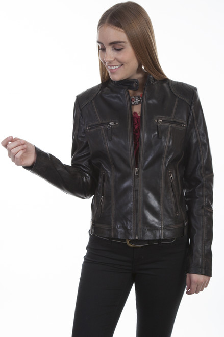 Women's Scully L8 Washed Lamb Jacket