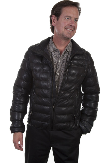 Men's Scully 512 Ribbed Leather Jacket