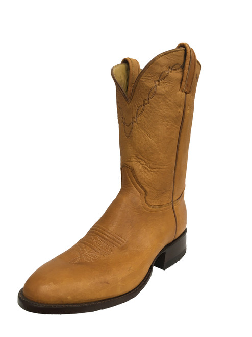 Men's Honcho Tan Elk with Wide Round Toe and Roper Heel