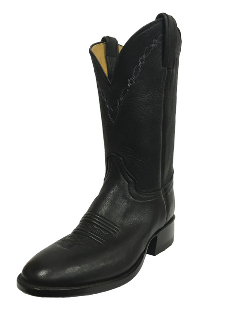 Men's Honcho Black Elk with Wide Round Toe and Roper Heel