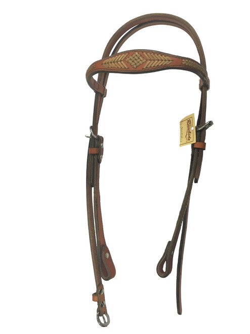 Rawhide Manufacturing RIR-3 Headstall with Rawhide Accents