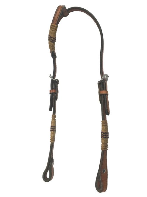 Rawhide Manufacturing 12R-18 Leather One Ear Headstall with Rawhide Accent
