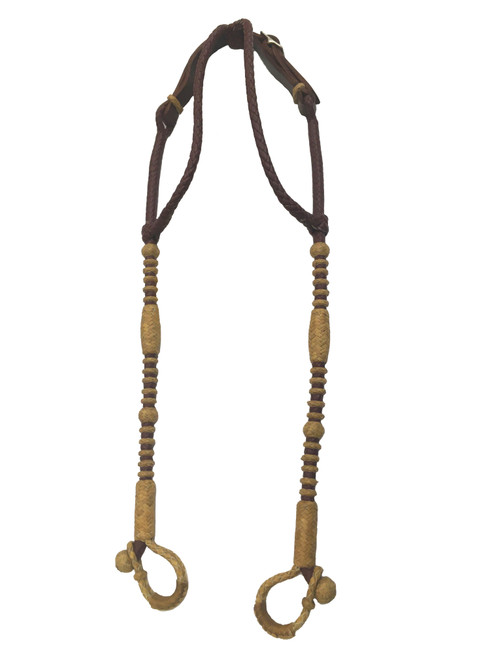 Rawhide Manufacturing 2 Eared Braided Leather Headstall