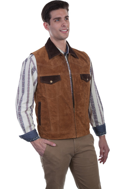 Men's Scully 621 Boar Suede Vest with Concealed Carry Pocket