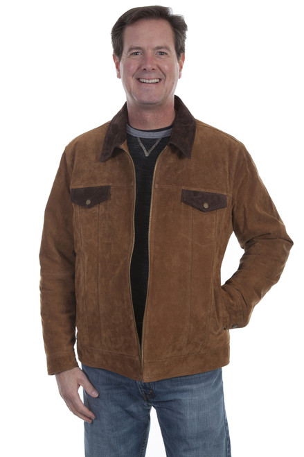 Men's Scully 623 Boar Suede Two Tone Jacket with Concealed Carry Pocket
