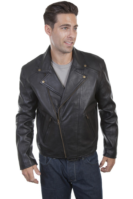 Men's Scully 713 Leather Motorcycle Jacket with Concealed Carry Pocket