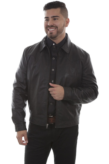 Men's Scully 723 Zip Front Leather Jacket