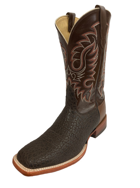 Men's Nocona 04B10 Chocolate Bull Shoulder with Square Toe and Tapered Heel