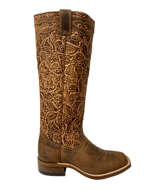 Women's Boult 8322 Embossed Buckaroo with Wide Square Toe and Stockman Heel