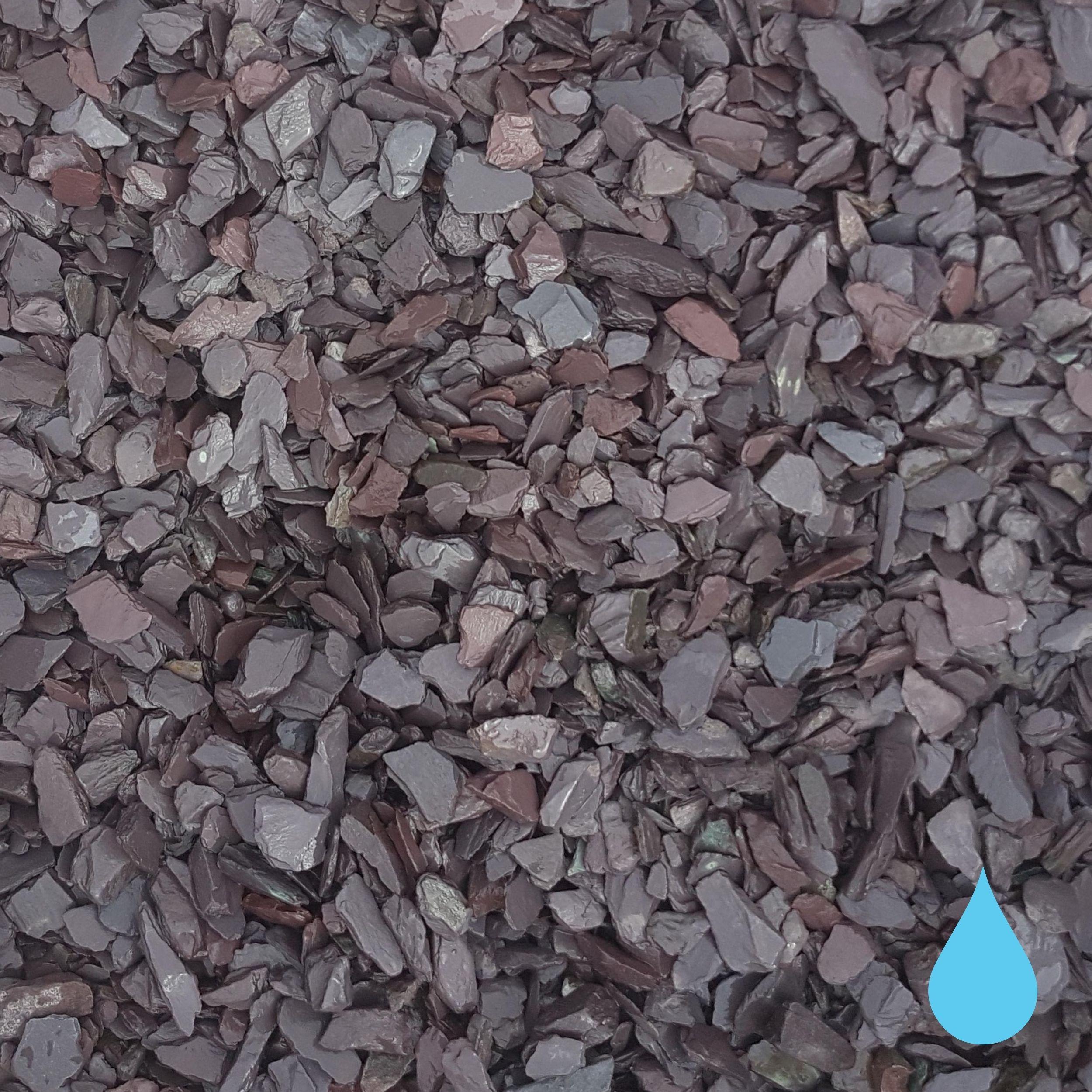 plum slate 20mm wet washed mitchell turf