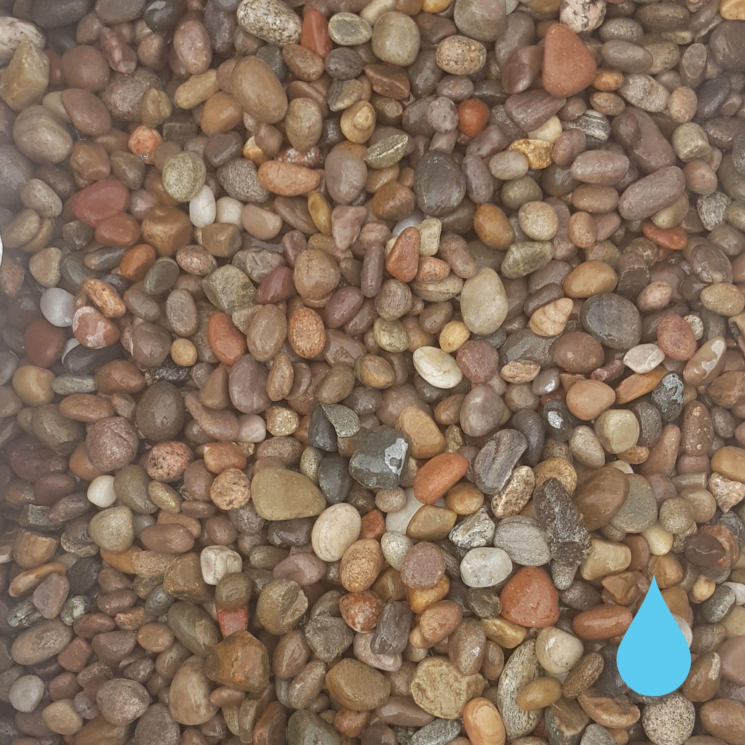 20mm 40mm scottish pebble stones mitchell turf wet