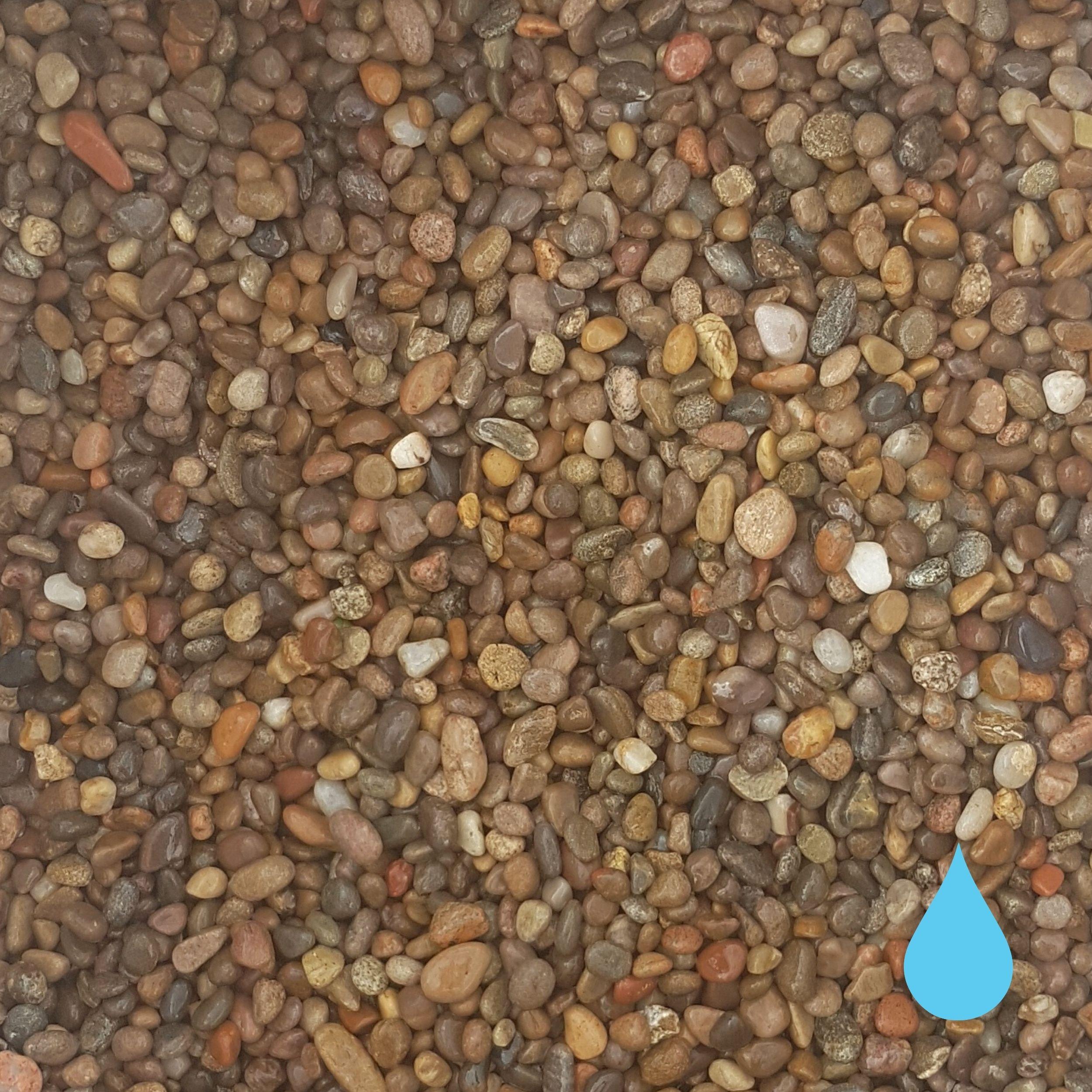 14mm 20mm scottish pebble stones wet mitchell turf